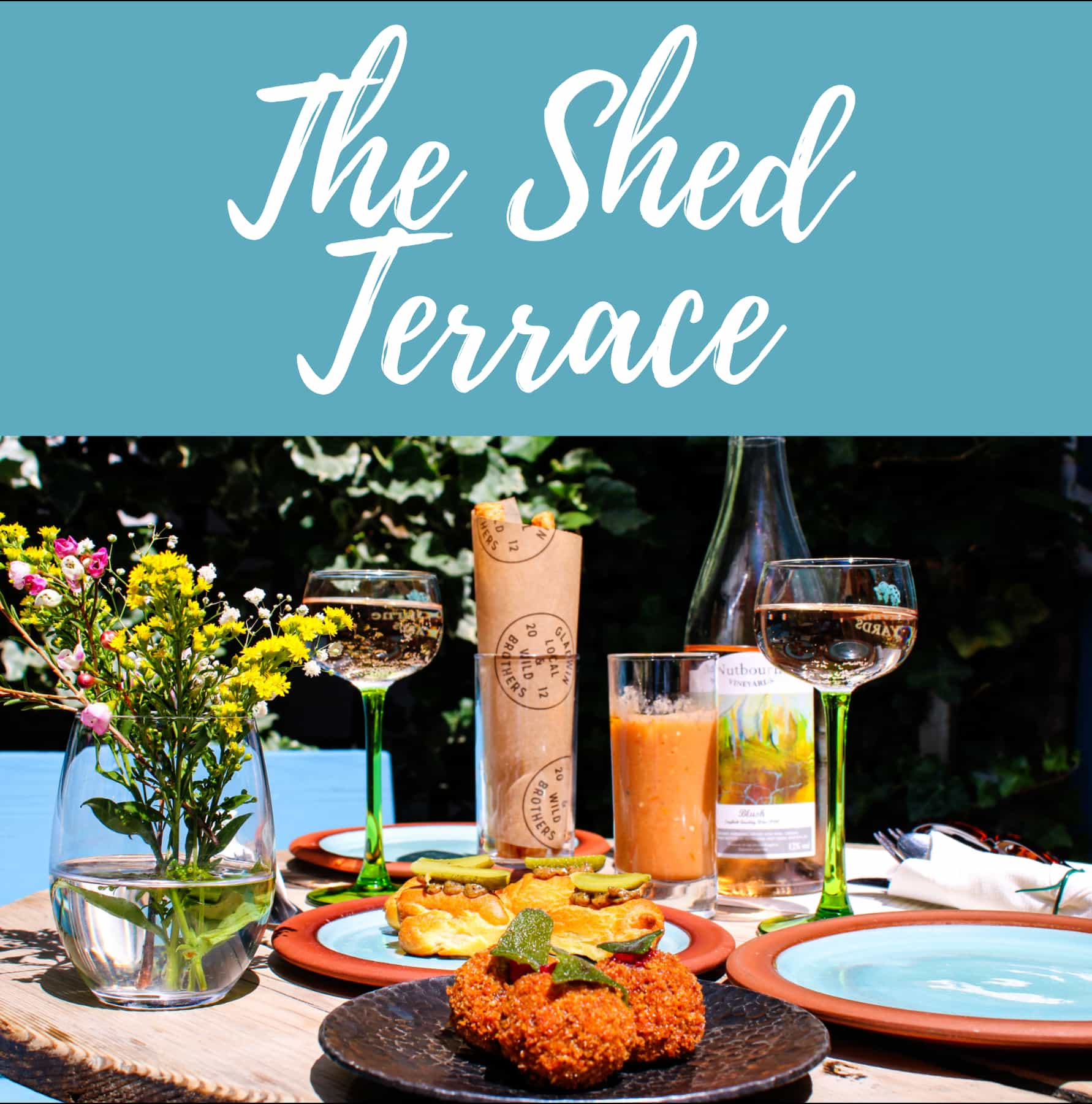 Terrace Seating, Cocktails and Local & Wild Lunches